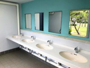 若洲公園キャンプ場のトイレきれい