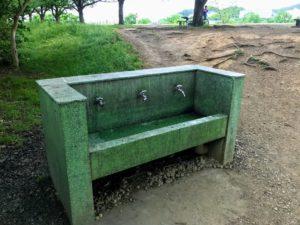 郷土の森公園バーベキュー場の水道