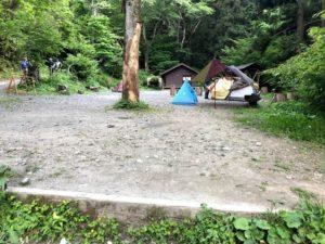 日影沢キャンプ場上段