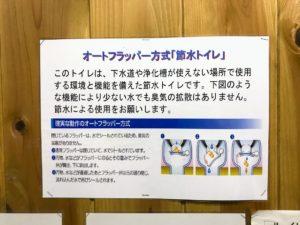 日影沢キャンプ場トイレオートフラッパー