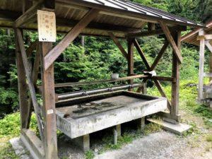日影沢キャンプ場水道