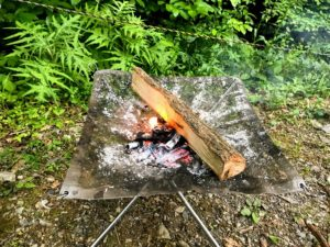 日影沢キャンプ場焚き火