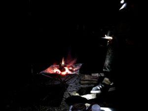 日影沢キャンプ場で焚き火で珈琲