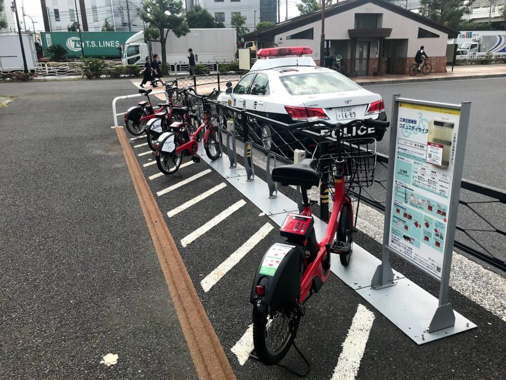 新木場駅コミュニティーサイクル