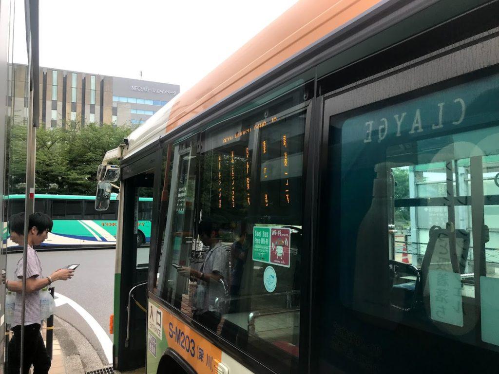 若洲キャンプ場前行きバス