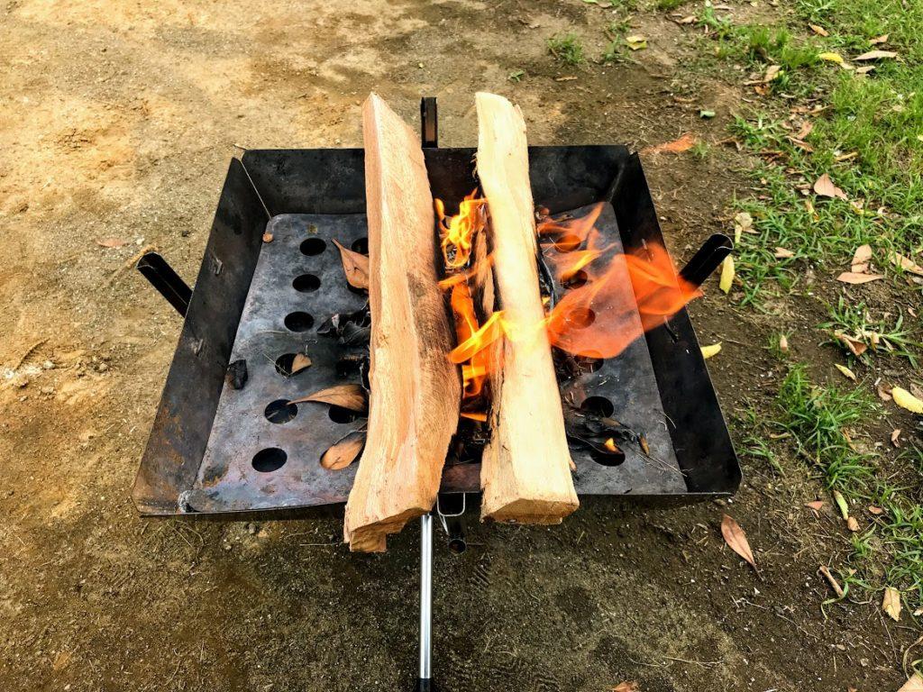 焚き火着火