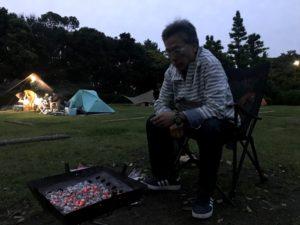 若洲公園キャンプ場日帰り焚き火