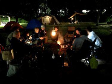 若洲公園キャンプ場で『焚き火ナイト』のレポート