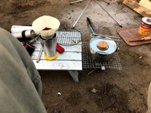 若洲公園キャンプ場焚き火