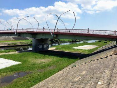 鴨池人道橋下 鶴見川河川敷